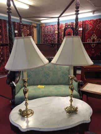 brass baldwin candlestick lamps