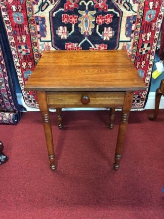 antique one drawer work table