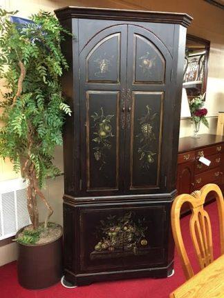 Pulaski Painted Corner Cabinet