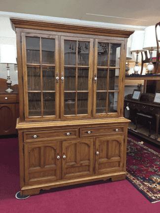 Thomasville Oak Hutch Cabinet