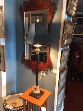 Vintage Black Candlestick Lamp
