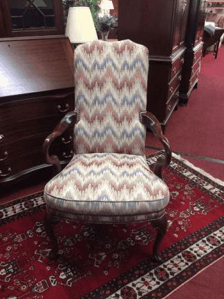 Vintage Flame Stitch Arm Chair