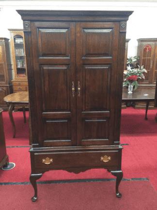 Vintage Statton Queen Anne Gentleman's Armoire