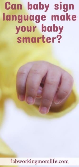 benefits of baby sign language