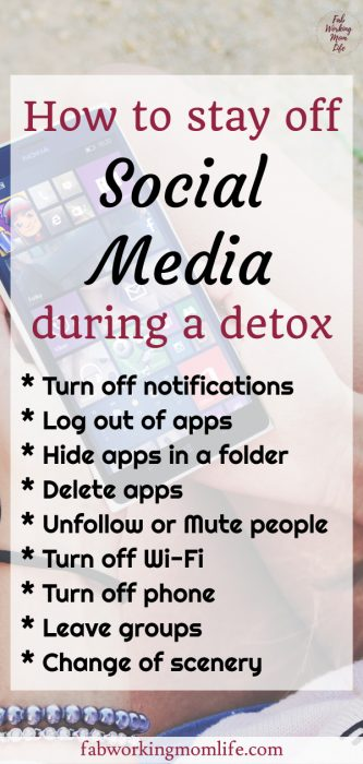 how to stay off social media during detox