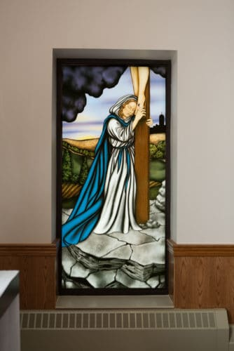 Digitally Printed Stained Glass (Mary)