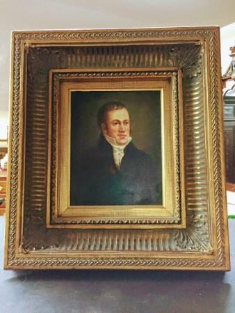 modern portrait of 19th Century englishman/american