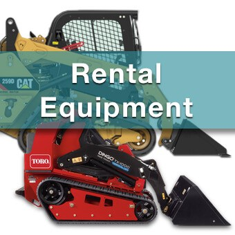 landscape equipment available for rent from suburban landscape supply