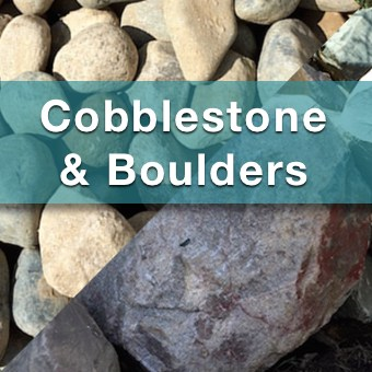 cobblestone and boulders for sale from suburban landscape supply