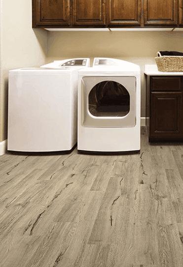 vinyl click together flooring laundry room makeover