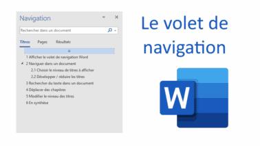Read more about the article Le volet de navigation Word : un outil de productivité incontournable