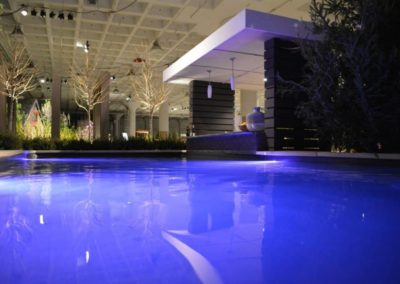 Swimming pool features a swim-up poolside bar.