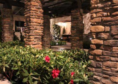 Outdoor Area with brick columns