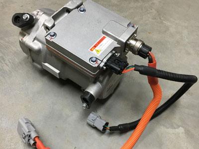 Electric high voltage aircon compressor