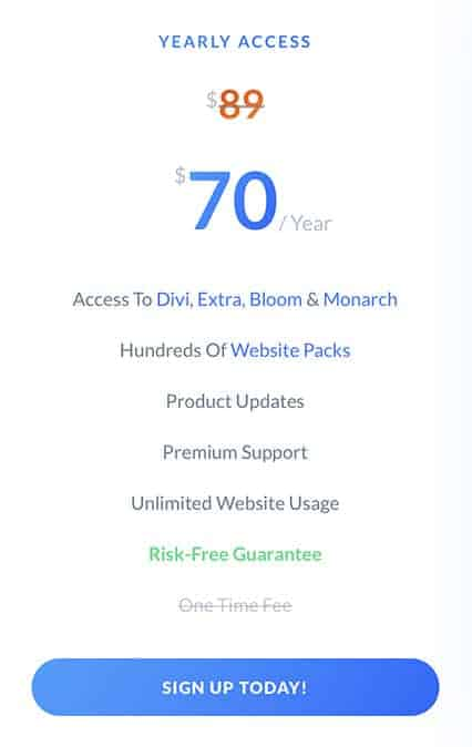 elegant themes yearly access