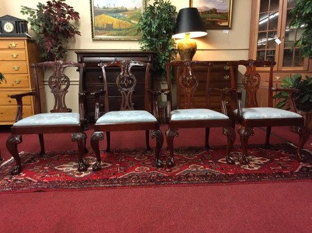 Baker Mahogany Chippendale Chairs (Set of Four)