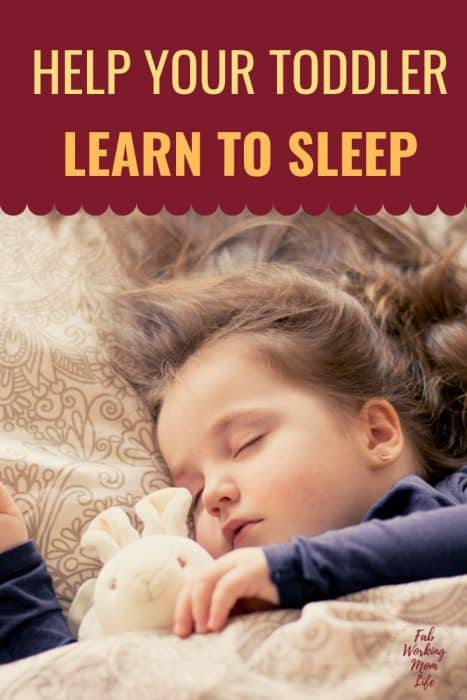 Help your toddler learn to sleep