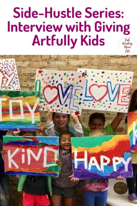 Side-Hustle Series: Interview withGiving Artfully Kids | Fab Working Mom Life
