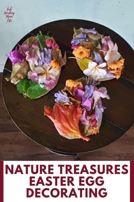 nature treasure easter egg decorating
