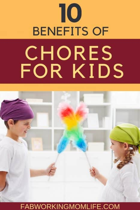 benefits of chores for kids
