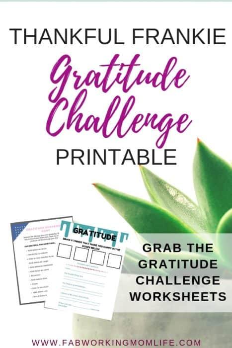 Thankful Frankie Gratitude Challenge