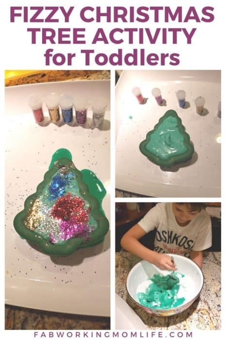 Fizzy Christmas Tree Activity for Toddlers