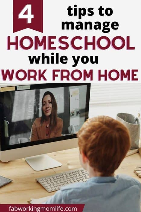 Tips on Managing Your Homeschool Kids While You Work from Home