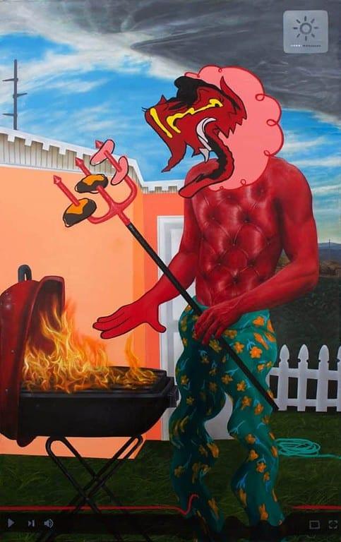 Trey Abdella - Backyard BBQ - Acrylic on canvas