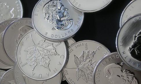 Silber, Silbermünze, Maple Leaf (Foto: Goldreporter)