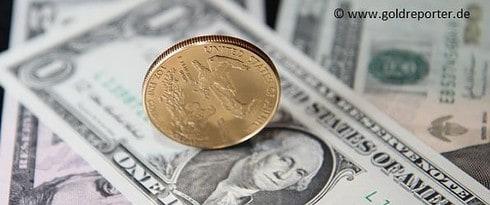 US-Dollar, Gold, Goldmünze (Foto: Goldreporter)