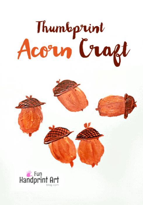 Thumbprint Acorn Craft