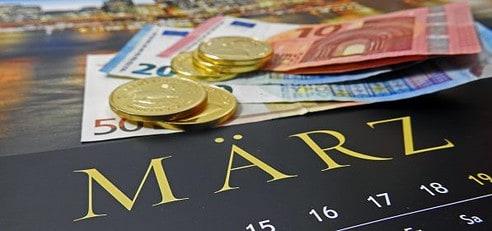 Gold, Goldpreis, Euro, Statistik, März