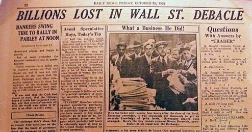 US-Börsen-Crash von 1929 (Foto: Goldreporter)