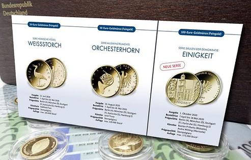 Goldmünzen, BRD, 2020