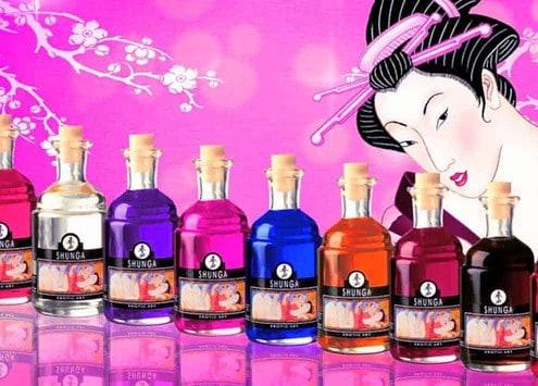 Huiles Shunga pour attiser le plaisir sur les zones érogènes