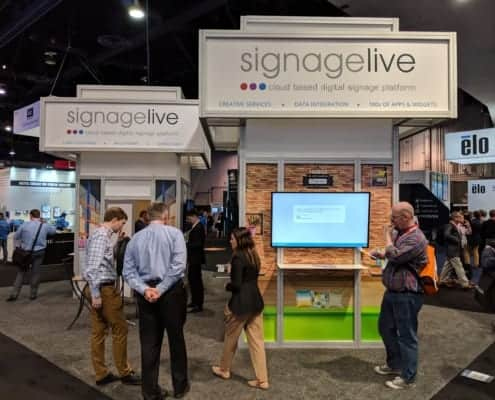 Signagelive Booth at DSE 2019