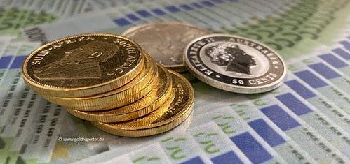 Gold, Goldpreis, Goldmünzen, Silbermünzen (Foto: Goldreporter)