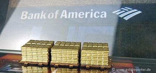 Gold, Goldpreis, Bank of America (Foto: Goldreporter)