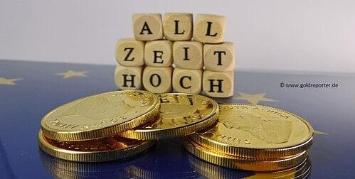 Goldpreis, Euro, Allzeithoch (Foto: Goldreporter)