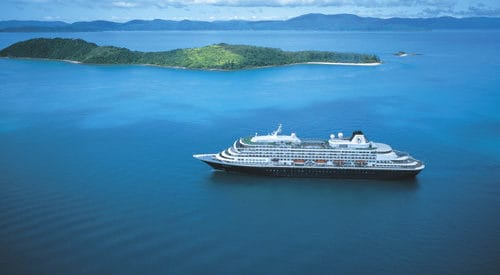 Cruise Ship located off Henning Island in the Whitsunday Island Group