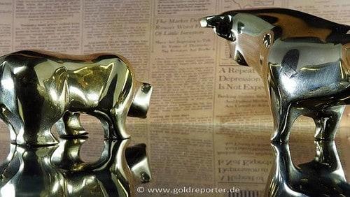 Gold, Bulle, Bär (Foto: Goldreporter)