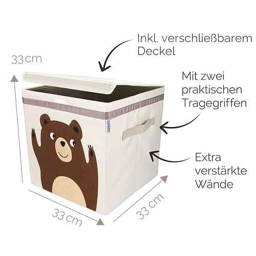 Glückswolke Spielzeugbox mit Deckel Henry Honigbär _web