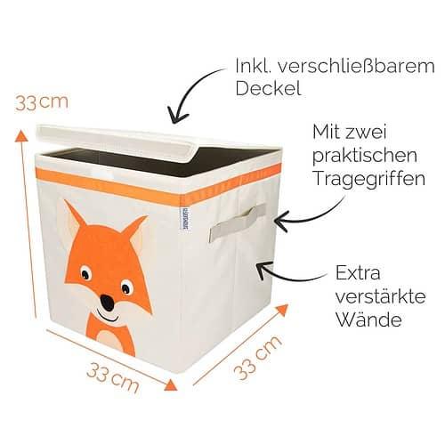 Glückswolke Spielzeugbox mit Deckel Willi Wildfuchs _web