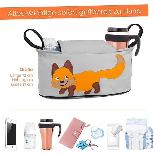 Glückswolke Kinderwagen Organizer Fuchs Tasche Buggy