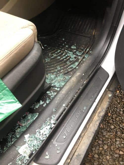 getting car broken intol arenal costa rica
