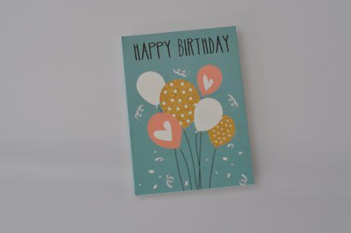 Happy birthday mint cadeaukaartje