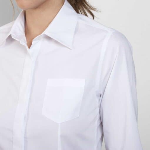 Camisa manga comprida Senhora Branca bolso