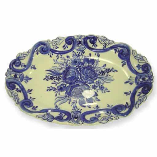 Travessa ornamentada azul