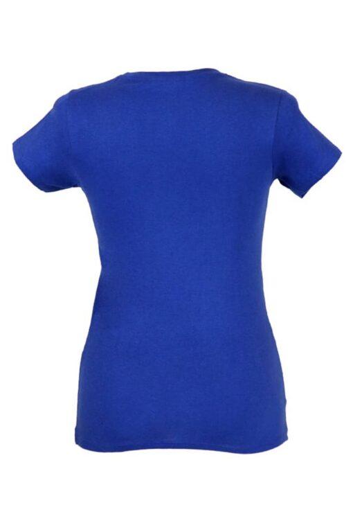 Tshirt senhora ankara azul traseira.