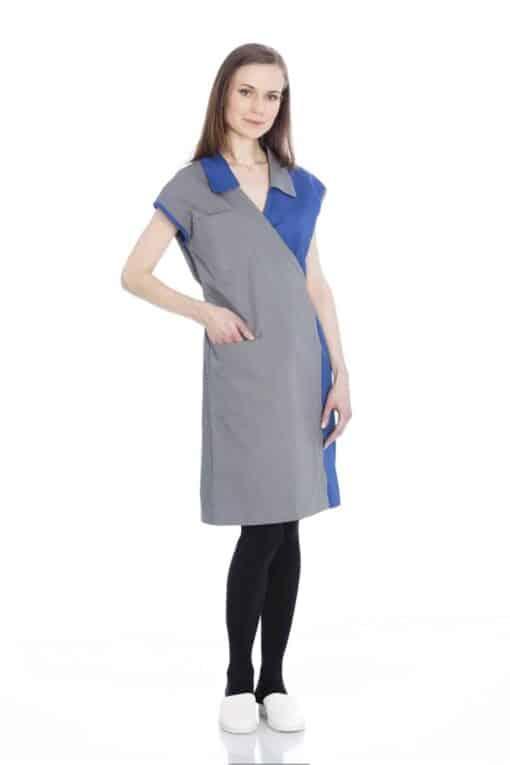 Grey Blue smock 2236